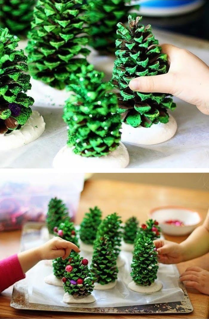 Making fun decorations out of cones for the New Year is one of the most favorite childhood activities.