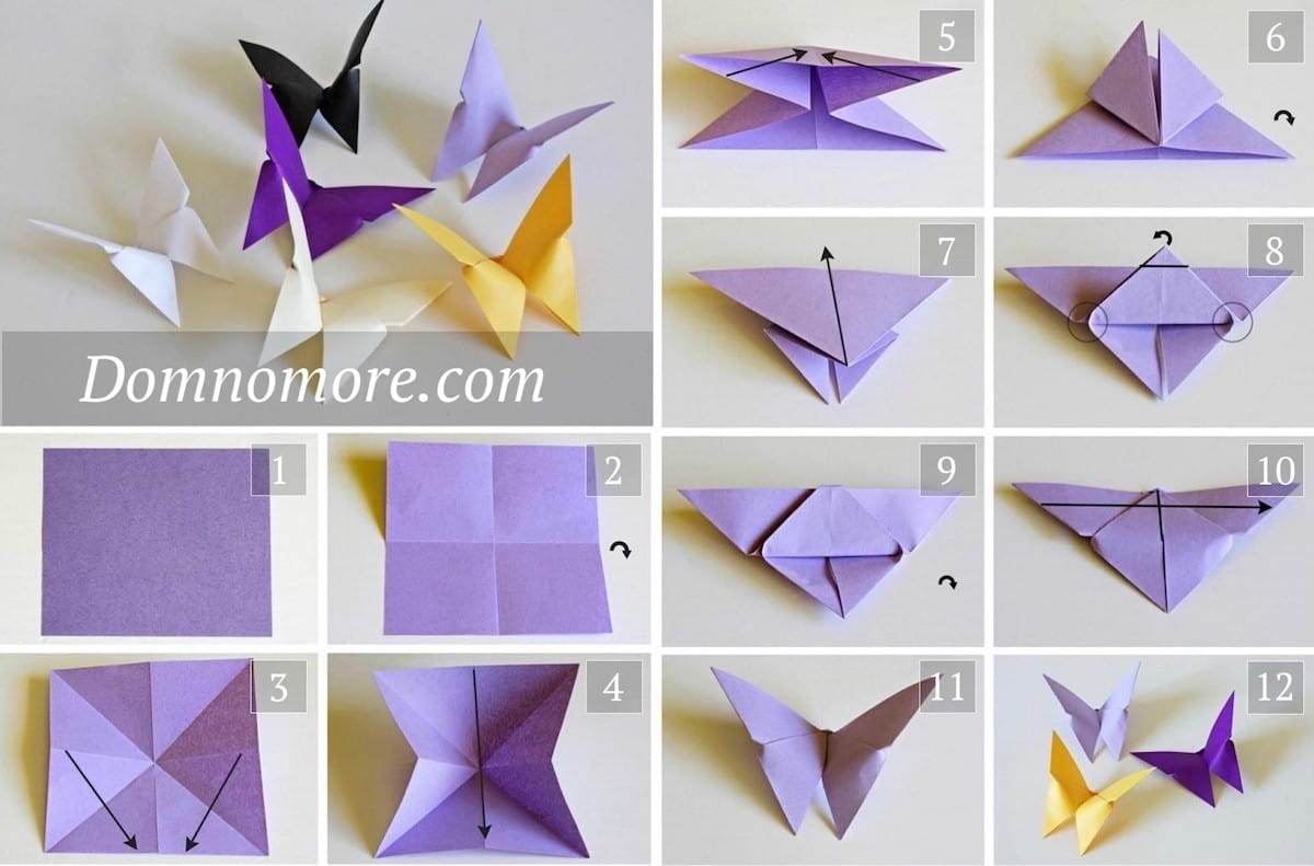 Paper butterfly manufacturing process