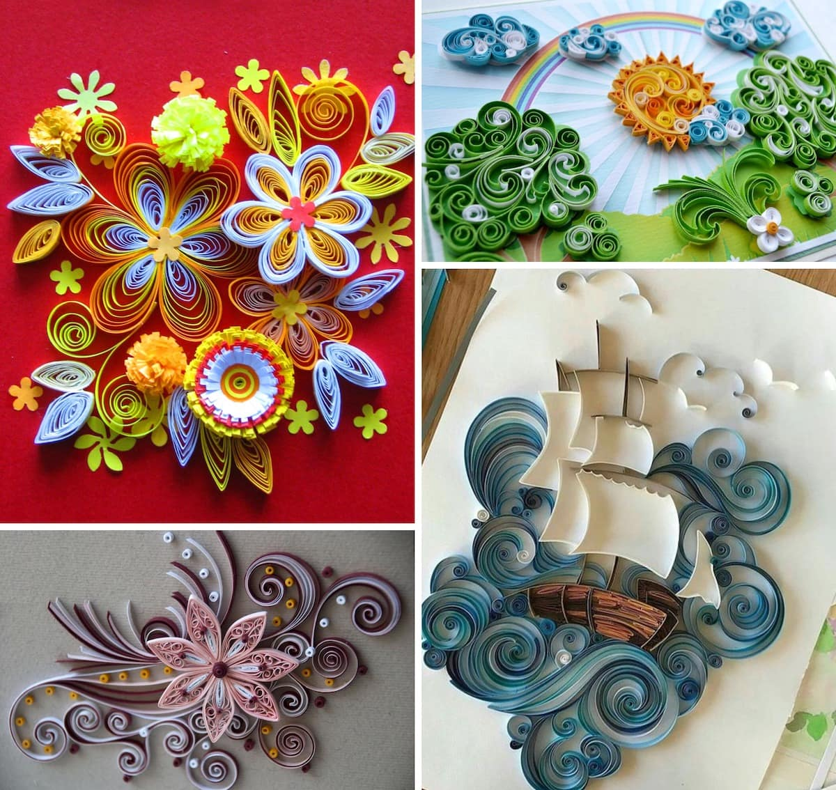 Quilling - It is always colorful and unique crafts.