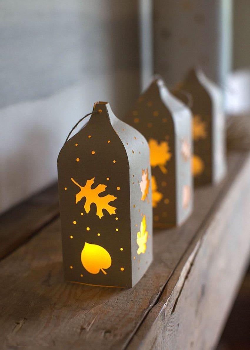 Красивые бумажные фонарики