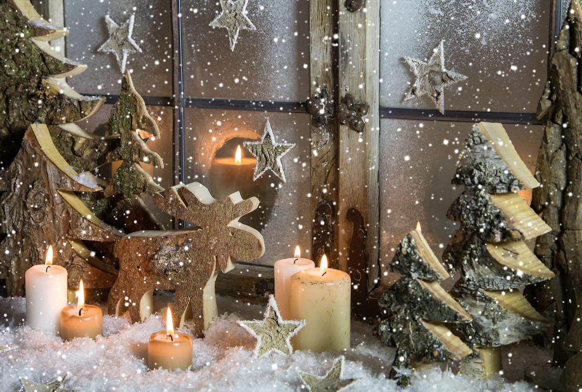 Новогоднее оформление окна