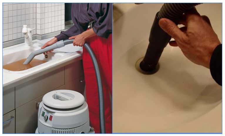 Làm sạch một miếng vải trong máy hút bụi
