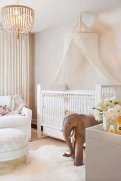 33 Most Adorable Nursery Ideas for Your Baby Girl Tidy and brilliant  a white nursery supplies a fresh and versatile canvas  that grows with your kid  A sweet  lacy white sanctuary can quickly shed  its