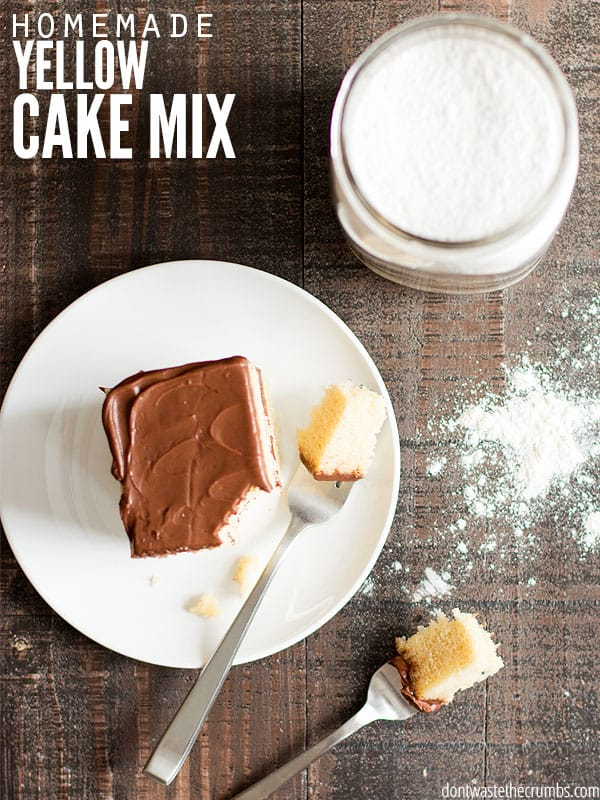 Homemade Yellow Cake Mix Real Food Ingredients From The