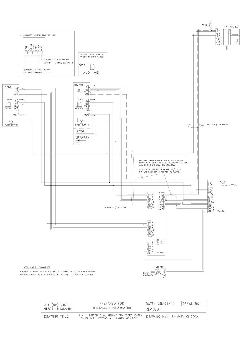Keypad wiring diagram wiring diagram 1 x 1 on dual height dda4 video audio entry panel