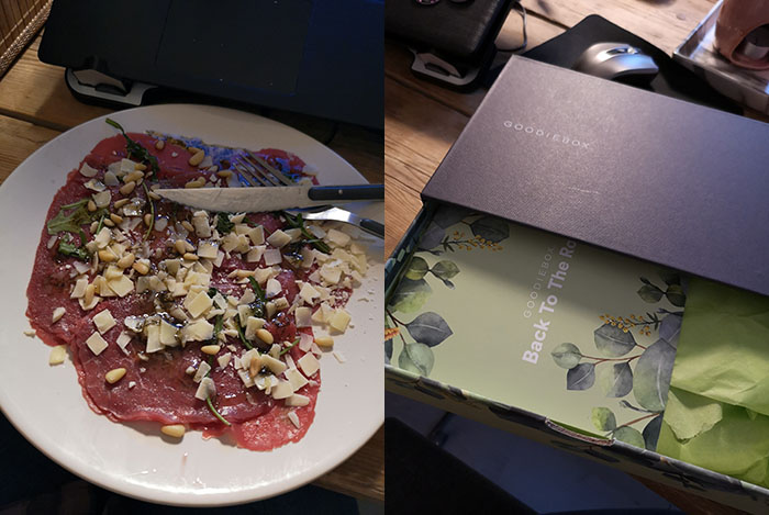 week in foto's #8 carpaccio en goodiebox