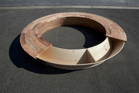 Round Round Bench Is A Recycled Seat With A Secret