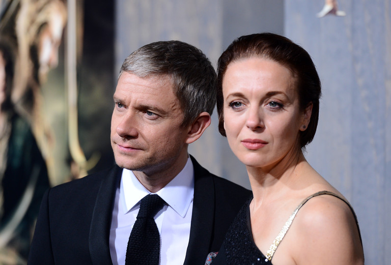 Martin Freman and Amanda Abbington