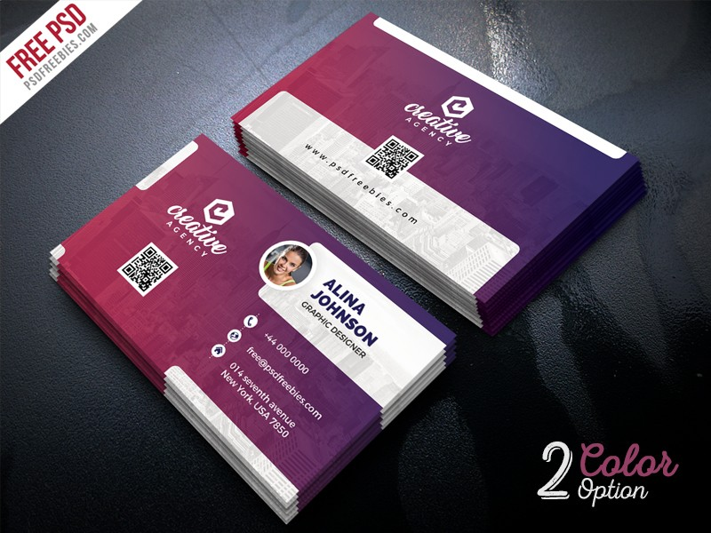 Creative Business Card Template PSD   Download PSD Creative Business Card Template PSD