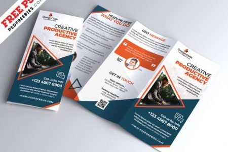 Download Free Brochures PSD   Page 2 of 2   Download PSD Corporate Tri fold Brochure Template PSD trifold template  Trifold Brochure   trifold  tri