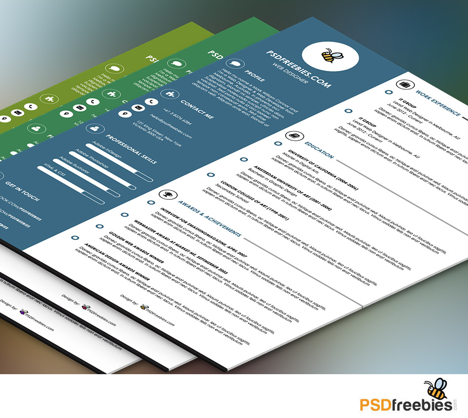 Basic Resumes Templates  Templates For Experienced Sample Resume     Best Free Resume Cv Templates Psd Download Download Psd