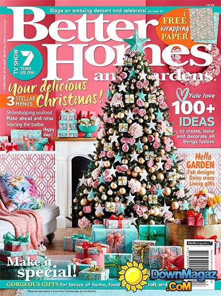 Better Homes Gardens Christmas Ideas Magazine
