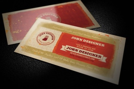 Grungy  Artistic Business Card Template 1   Design Panoply Grungy  Artistic Business Card Template 1
