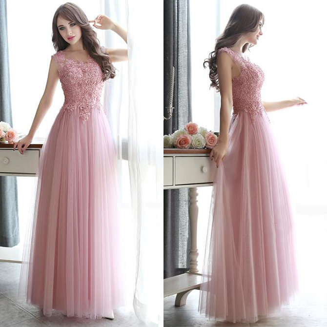 Open Back Pearl Beaded Prom Dresses  All Over Beaded Pink Prom Dress     Open Back Pearl Beaded Prom Dresses  All Over Beaded Pink Prom Dress   Modest Illusion