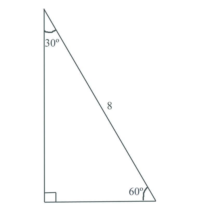 Triangle Length 3 And 5 Angle Cm Degree 60