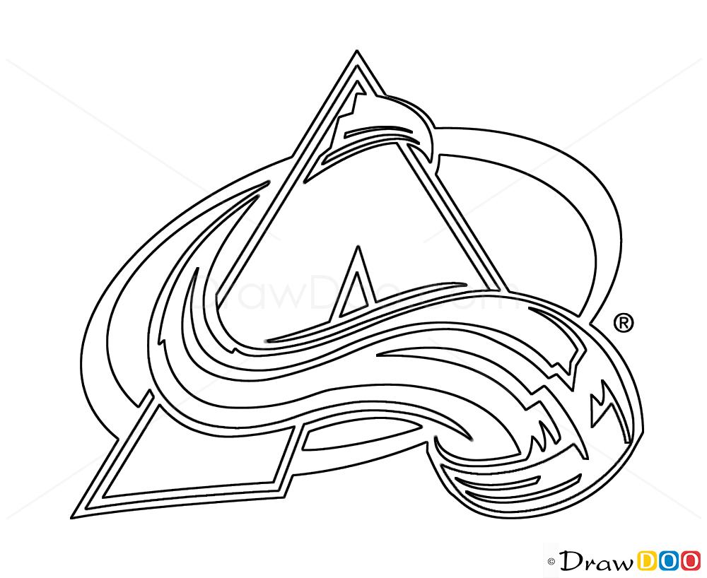 How To Draw Colorado Avalanche Hockey Logos How To Draw