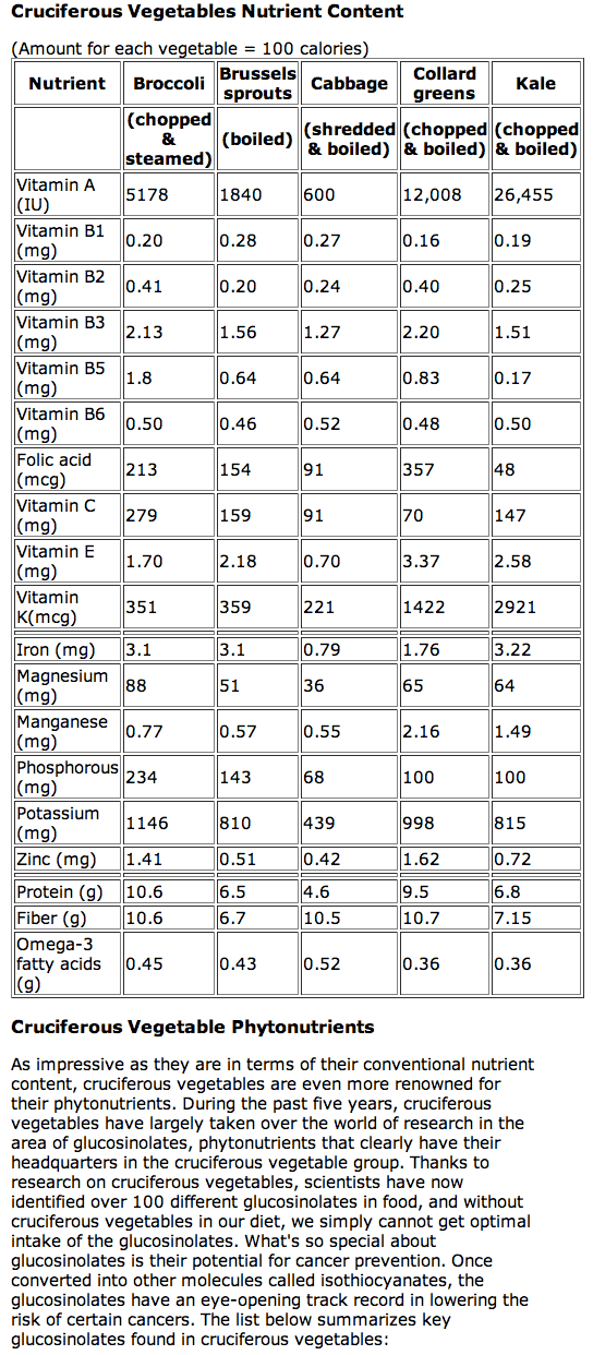 Dense Foods List Nutrient Most