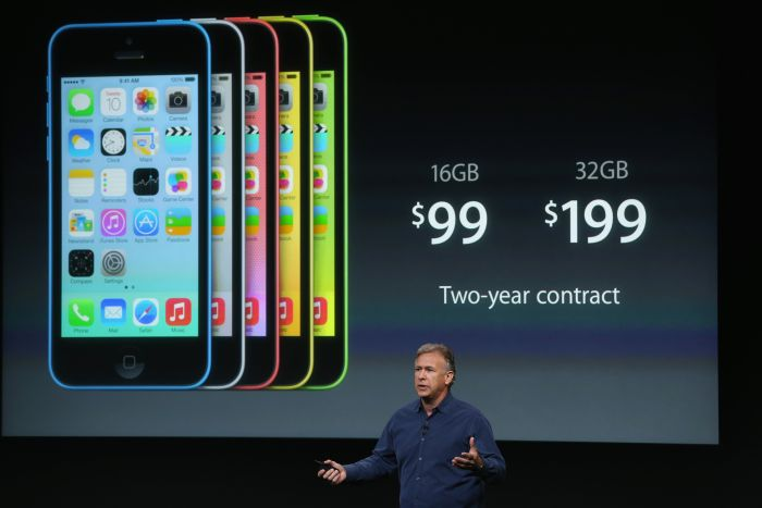 Apple iPhone 5 c at product launch