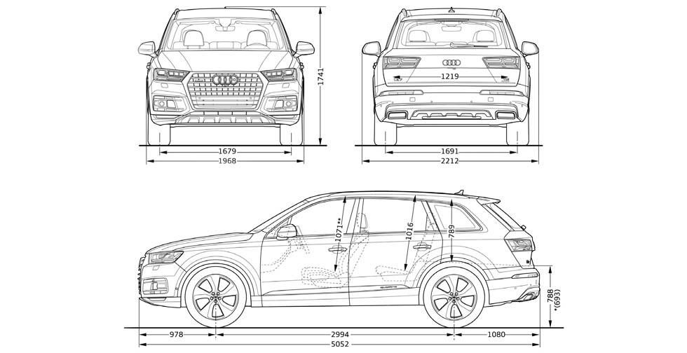 Audi Q7 Dimensions Interior 2017
