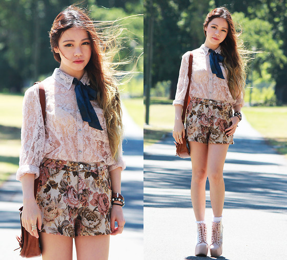 Best Photography Romwe Women Blouse Floral images on Designspiration Romwe Blouse  Romwe Floral Shorts  Jeffrey Campbell Lita Boots  fashion   photography