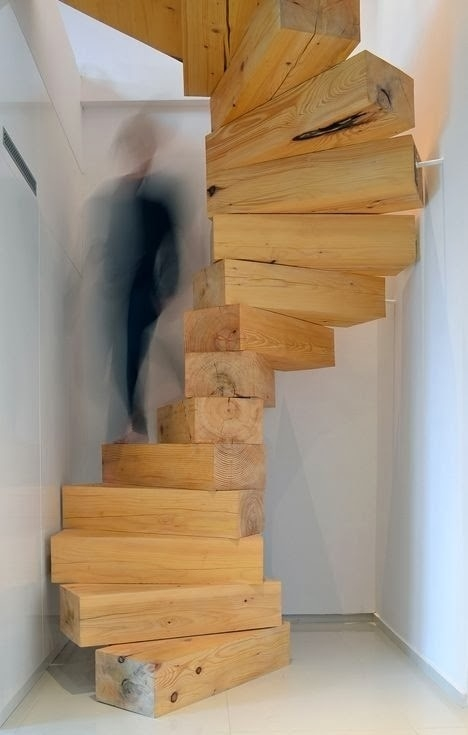 Creative Stairs Space 30 Wooden And Types Image Ideas | Types Of Wooden Stairs | Rustic Wooden | Storage | Separated | Staircase | Vertical Wood