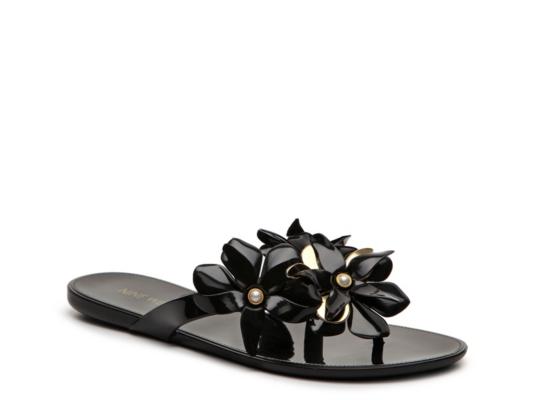 1af99b9cf706 Nine West Black Flower Sandal