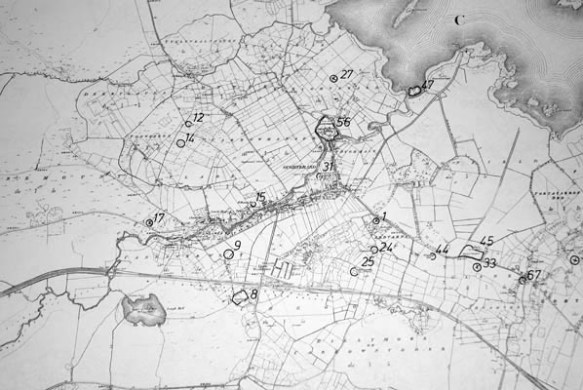 Monument map 1930  Detail  Oughterard   Oughterard Heritage Monument map 1930  Detail  Oughterard