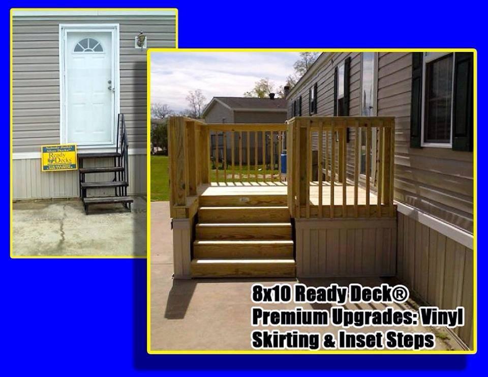 Ready Deck Gallery Ready Decks | Pre Built Wood Stairs | Exterior | Landing | Free Standing | Lvl | Basement