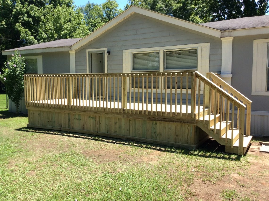 Ready Deck Gallery Ready Decks | Wood Mobile Home Steps | Double Wide | Pressure Treated | Temporary | Wood Camper | Stained Wood