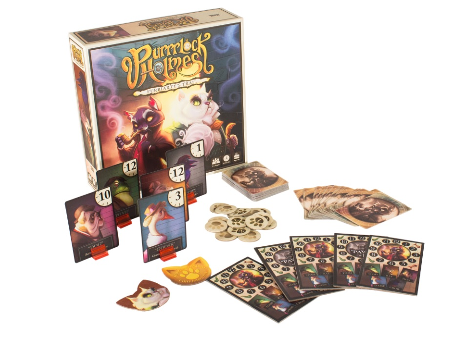 New Board Games To Get Excited about at Origins   Down to Game Purrrlock Holmes