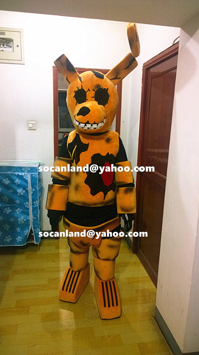 Fnaf Springtrap Mascot Costume By Cartoonmascotcostume On