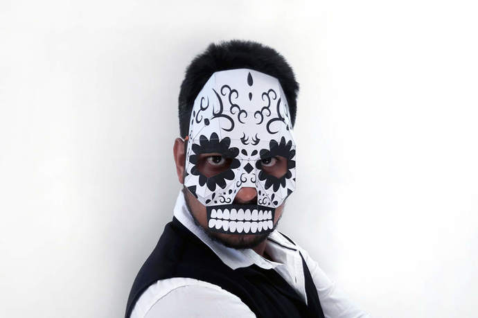 Halloweenmask Sugar Skull Mask Papercraft Diy By