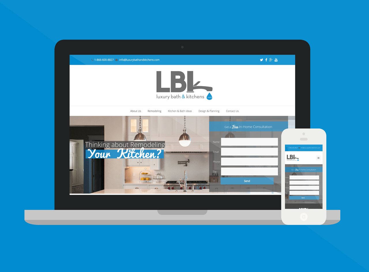 Responsive Web Design For Luxury Bath U0026 Kitchens