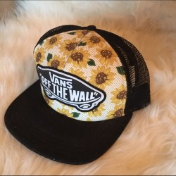 26a1919b Vans Accessories Cyber Deal Sunflower Snapback Poshmark