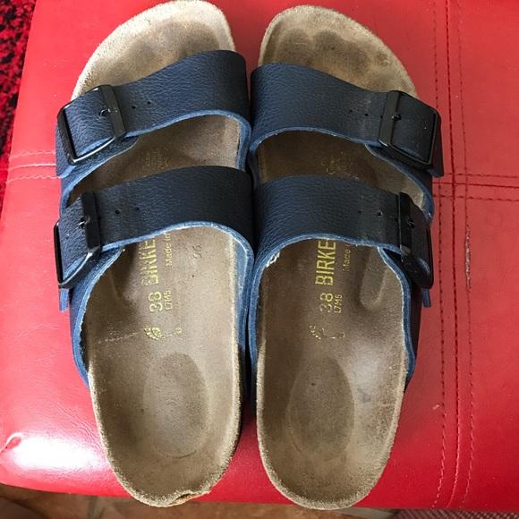 67% off Birkenstock Shoes - Soft bed navy Birkenstocks ...