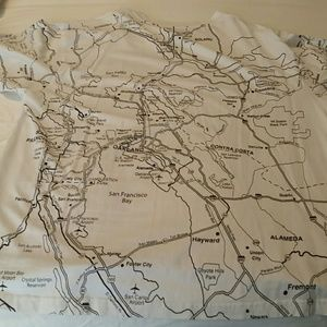 Shirts   Mens 3xl Bay Area Map Tshirt   Poshmark Shirts   Men s 3XL Bay Area Map T Shirt
