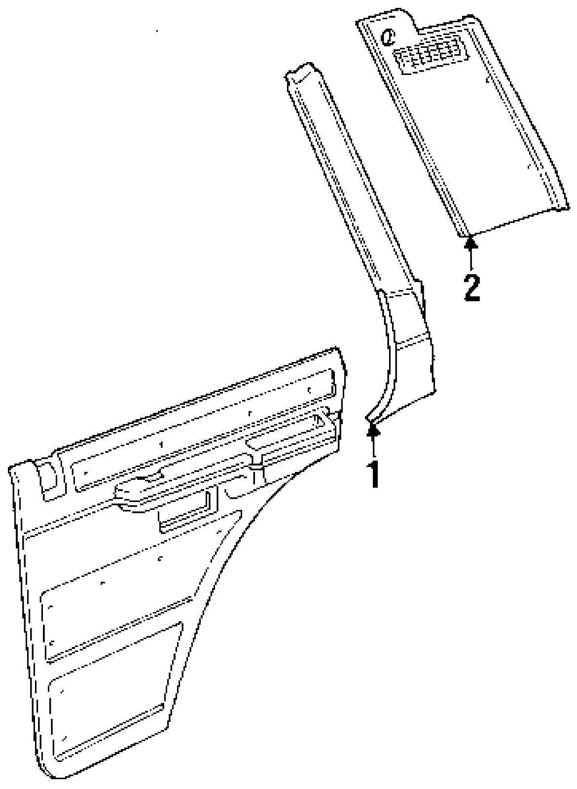1993 1993 range rover rh passenger's side rear quarter trim panel oem