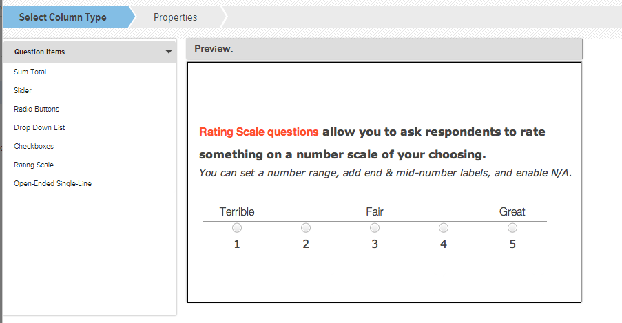 Rating Scale Sample Questions