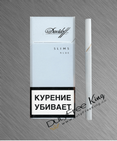 Davidoff Slims Blue Cigarettes order at Duty Free Price ...