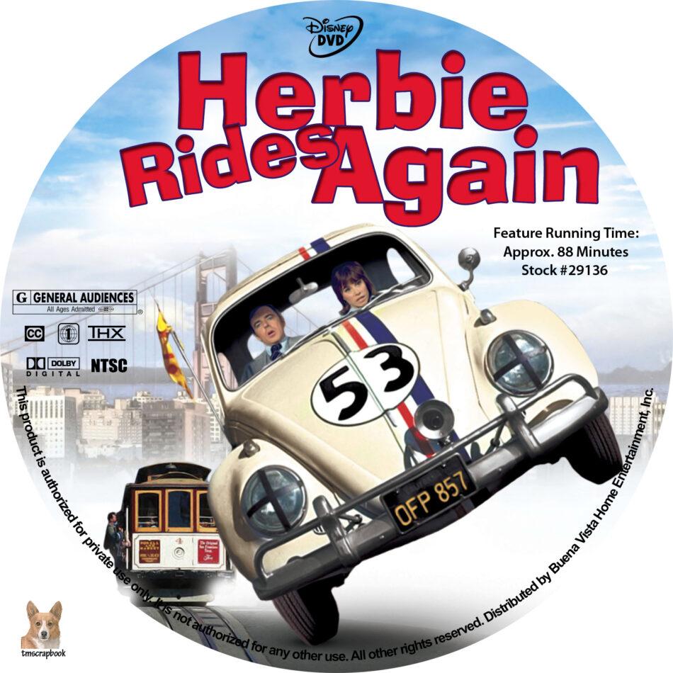 herbie rides again opening dvd - 950×950