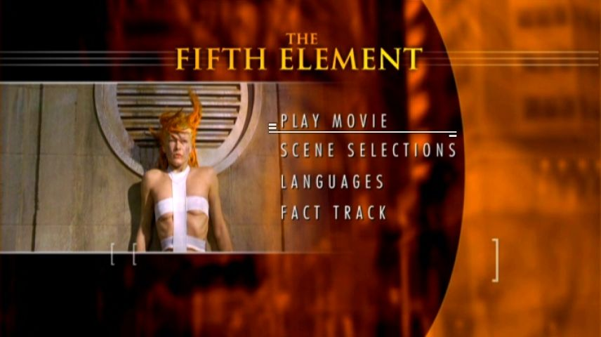 The Fifth Element 1997 Dvd Menu