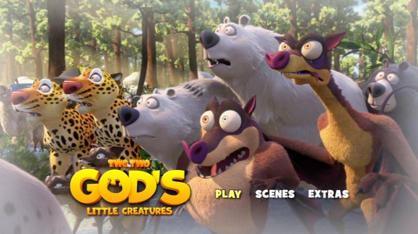 Two by Two: God's Little Creatures (2015) - DVD Movie Menus