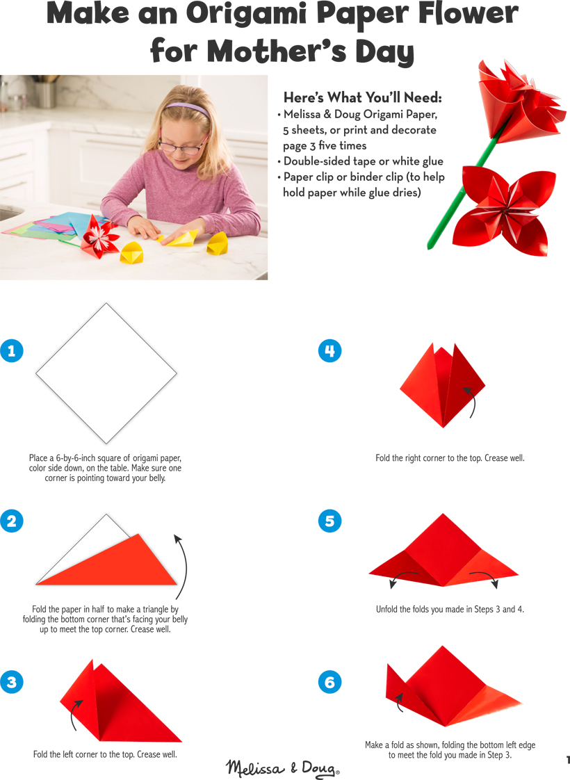 Easy Step By Step Origami Flowers Petals