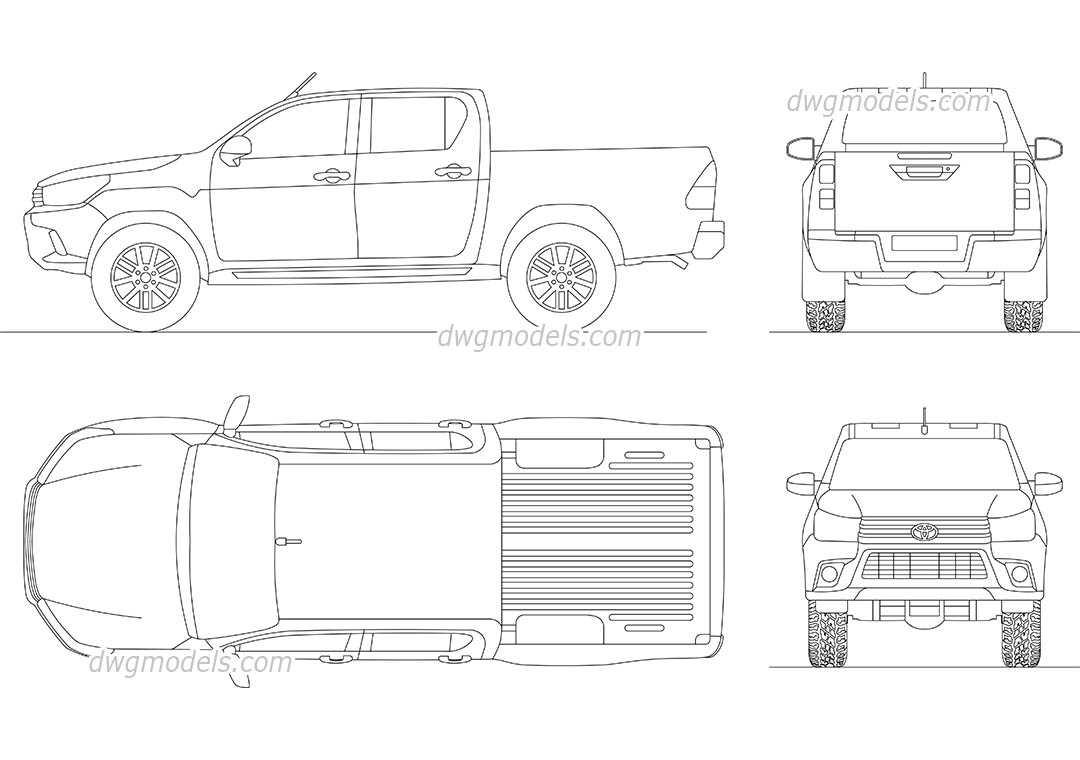 2d Autocad Truck Blocks