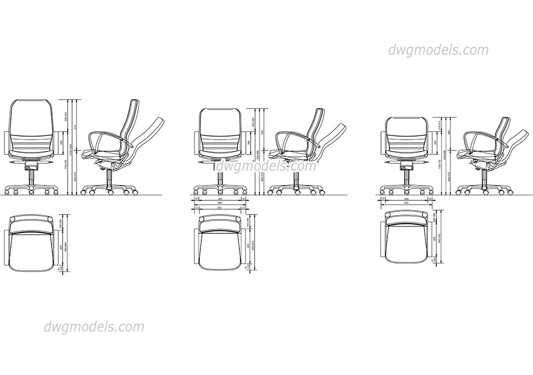 Office Furniture 3d Cad Blocks
