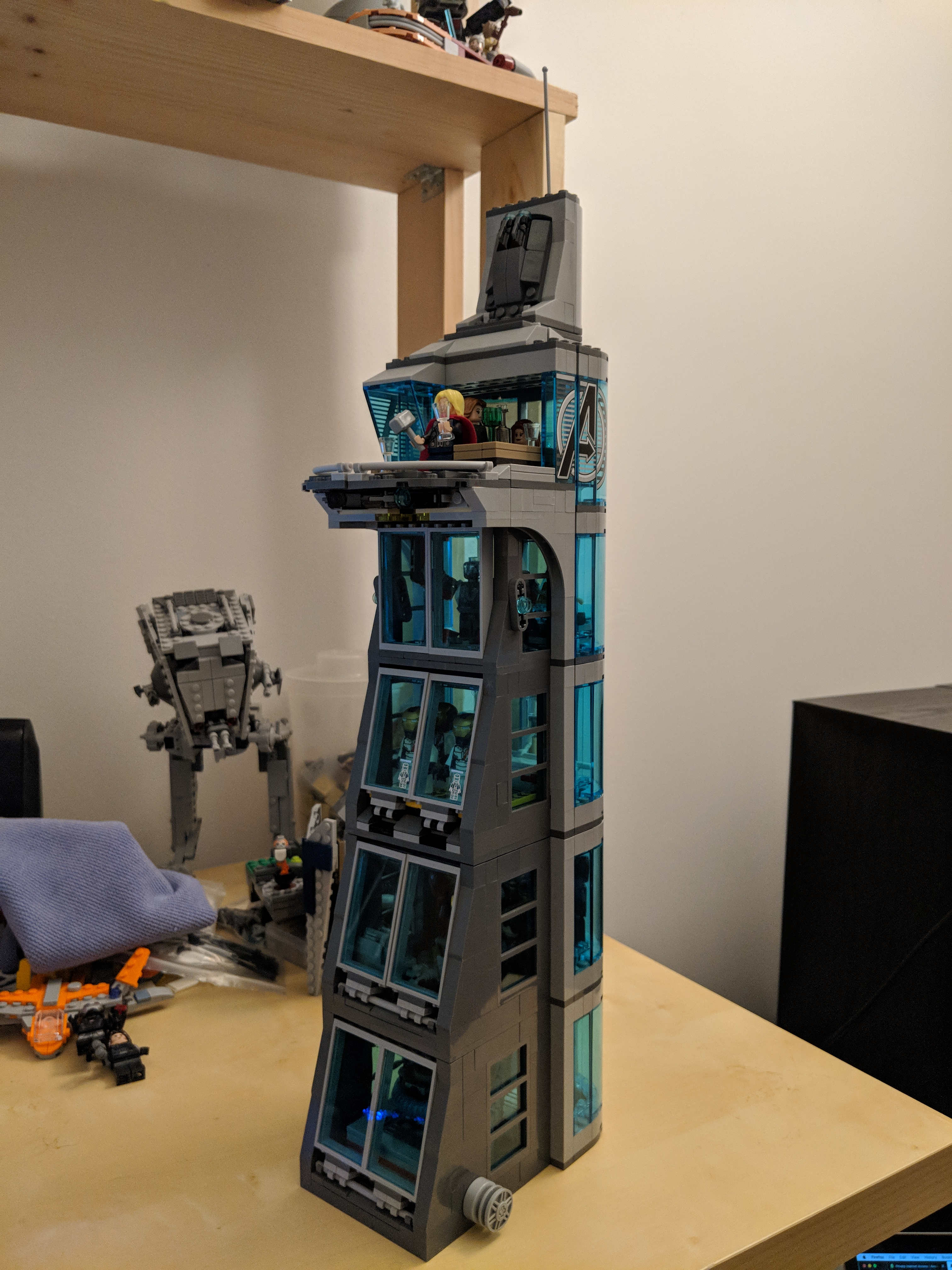 Lego 76038 Attack On Avengers Tower Modified With Two