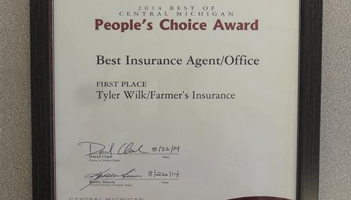 Tyler Wilk - Farmers Insurance Agent in Mt Pleasant, MI