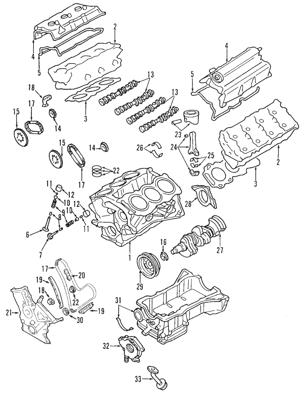 Genuine timing chain 7t4z 6268 a