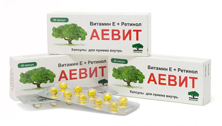 Vitamin Aevit trong hộp và viên nang