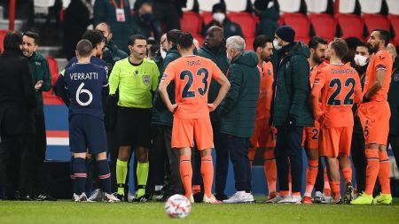 Champions League: PSG Vs Basaksehir Suspended After Alleged Racist Slur By  Match Official | World News | Sky News